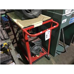 RED 2 TIER METAL MOBILE SHOP CART