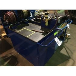 BLUE METAL MOBILE SUB PUMP PRESSURE CART WITH HOSES