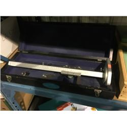 2 CHESTERMAN SHEFFIELD PRECISION TOOL STANDS IN CASES