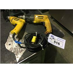DEWALT DW106 ELECTRIC DRILL AND DEWALT DW505 ELECTRIC HAMMER DRILL