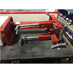 RED INDUSTRIAL BOOT STRETCHER WITH PARTS AND TOOLING