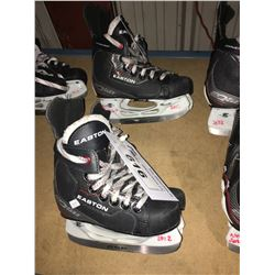 2 PAIR OF EASTON EQ50 HOCKEY SKATES: SIZE 13.9 / 11.2