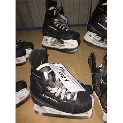 2 PAIR OF EASTON EQ50 HOCKEY SKATES: SIZE 12.7 / 12.10