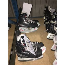 2 PAIR OF EASTON EQ50 HOCKEY SKATES: SIZE 10.9 / 8.5