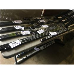 4 HOCKEY STICKS: WARRIOR ALPHA QX4 75, 70 FLEX