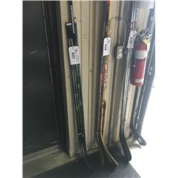4 HOCKEY STICKS: WARRIOR ALPHA QX4 75, 50 FLEX &  BAUER NEXUS 700 JR