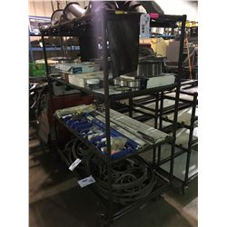 4 TIER INDUSTRIAL TUBE MADE MOBILE PRODUCT CART