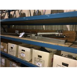 SHELF OF ASSORTED MACHINE, ELECTRICAL COMPONENTS & PARTS