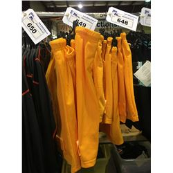 6 ASSORTED SIZED ORANGE BAUER CORE PROTECTIVE UNDERLAYER SHORTS