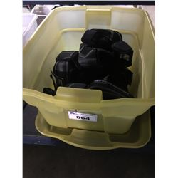 BIN OF ASSORTED SIZED SHERWOOD ELBOW PADS