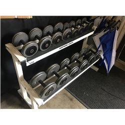 WHITE NORTHERN LIGHTS 2 TIER WEIGHT RACK WITH WEIGHTS