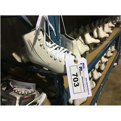 PAIR OF CASCADE LAKE PLACID GIRLS SIZE 4 FIGURE SKATES