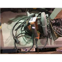 RIDGID CIRCULAR SAW & BLACK AND DECKER ELECTRIC DRILL