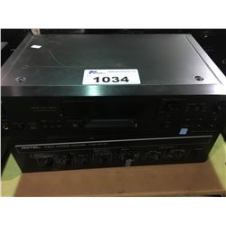 SONY ATRAC DSP TYPE R CURRENT PULSE D/A CONVERTER & ROTEL QA-101 PA SYSTEM