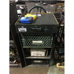 SIDE OF STAGE CART WITH ASSORTED TOOLS AND MISC