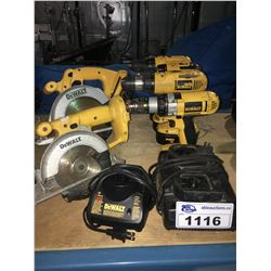 ASSORTED DEWALT POWER TOOLS