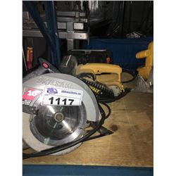 SKIL SAW CIRCULAR SAW & BLACK AND DECKER MOUSE SANDER & ROLL SANDER