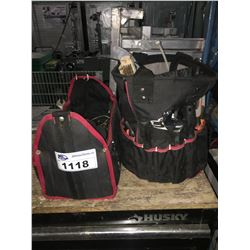 2 HUSKIE TOOL BAG WITH TOOLS