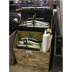 CART OF ASSORTED LIGHTING SHADES AND DAMPERS