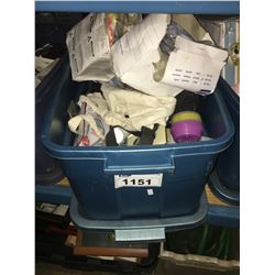 BIN OF ASSORTED SAFETY & ELECTRICAL