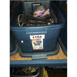 BIN OF ASSORTED  WIRE AND CABLE