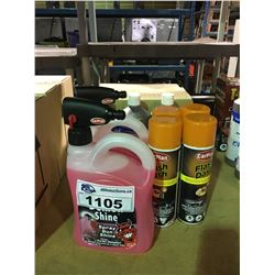 ASSORTED LOT OF AUTOMOTIVE  DETAILING PRODUCTS