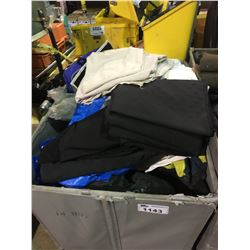 BIN OF ASSORTED LIGHTING GRID FABRIC (BIN NOT INCLUDED)