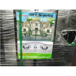 GREATBEAR 20FT BI-PARKING WROUGHT IRON GATE