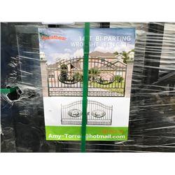 GREATBEAR 14FT BI-PARKING WROUGHT IRON GATE