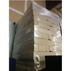 PALLET OF LONG CARDBOARD PARTS BINS