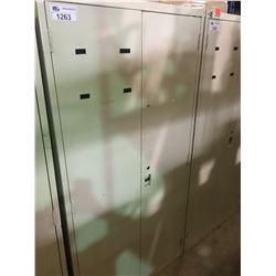 BEIGE METAL 2 DOOR CONSUMABLES CABINET