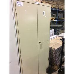 BEIGE METAL 2 DOOR CONSUMABLES CABINET