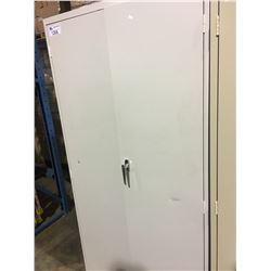 GREY METAL 2 DOOR CONSUMABLES CABINET