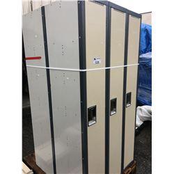 2 BEIGE METAL 3 BAY LOCKER SYSTEMS
