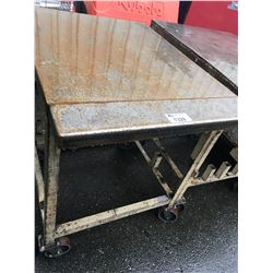 HEAVY DUTY METAL MOBILE WORK TABLE