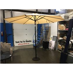 OUTDOOR PATIO UMBRELLA WITH CAST METAL STAND