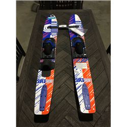 PAIR OF CONNELY JUNIOR TRAINER COMBO SUPERSPORT WATER SKIS