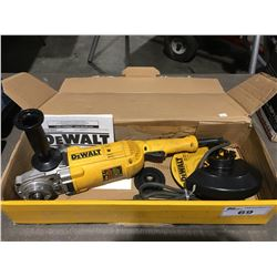 DEWALT MODEL DWE4517 HEAVY DUTY LARGE ANGLE GRINDER (MISSING DISC LOCK NUT)