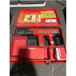 HILTI DX450 CONCRETE GUN (FIRING CARTRIDGES IN OFFICE)