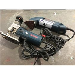 2 BOSCH POWER TOOLS - JIGSAW & CORNER DETAIL SANDER