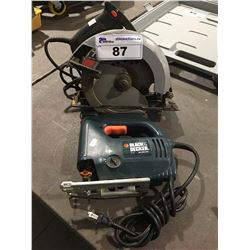 BLACK & DECKER JIGSAW & SKIL CIRCULAR SAW
