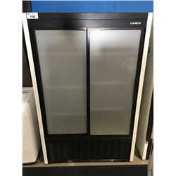 HABCO COMMERCIAL DOUBLE GLASS FRONT DOOR COOLER