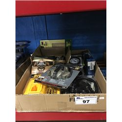 1 BOX ASSORTED TOOLS & TOOL ACCESSORIES