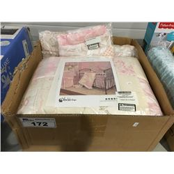 COTTON TAIL DESIGNS HEAVEN SENT GIRL 8 PCE CRIB BEDDING SET
