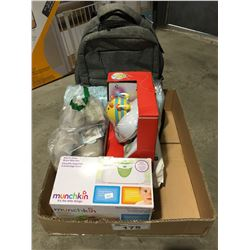 BOX OF ASSORTED BABY & TODDLER ITEMS