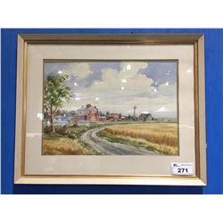 "FRAMED ORIGINAL WATER COLOR PAINTING BY CELEBRATED CANADIAN ARTIST DON FRACHE (1919-1994) 26"" X"
