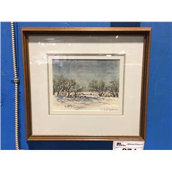 FRAMED ORIGINAL WATER COLOUR PAINTING BY CELEBRATED CANADIAN ARTIST ERNEST LUTHI (1906-1983)