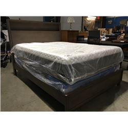 QUEEN SIZE STORAGE HEADBOARD BED (HEADBOARD, FOOTBOARD & RAILS)