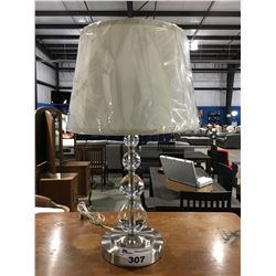 CONTEMPORARY METAL & GLASS TABLE LAMP