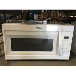WHIRLPOOL WHITE BUILTIN MICROWAVE OVEN